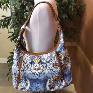 TIGNANELLO Canvas Shoulder Bag 100% Authentic EUC